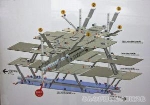 汝矣島(ヨイド)駅内のマップ