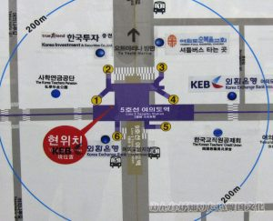 汝矣島(ヨイド)駅周辺のマップ