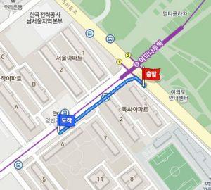 汝矣ナル(ヨイナル)駅からシャトルバスのバス停への行き方