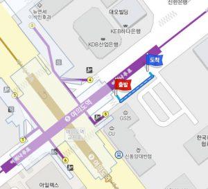 汝矣島(ヨイド)駅からシャトルバスのバス停への行き方