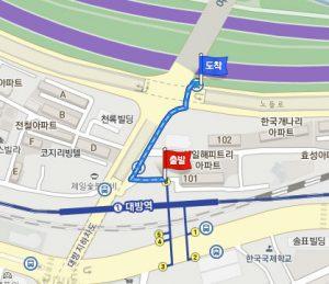 大方(テバン)駅からシャトルバスのバス停への行き方