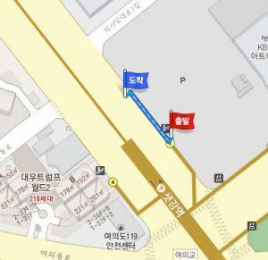 セッカン駅(地下鉄9号線)シャトルバスのバス停への行き方