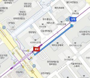 汝矣島(ヨイド)駅から市バスのバス停