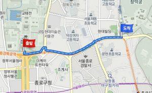 景福宮(キョンボックン)から昌徳宮(チャンドックン)へのアクセス