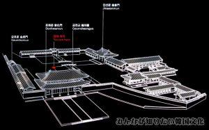 敦化門(トンファムン)一帯の地図