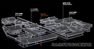 闕内各司(クォルネカクサ)一帯の地図