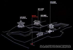 尊徳亭(ソントクチョン)一帯の地図