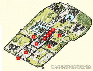 景福宮(キョンボックン)の地図 1番~10番