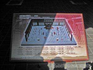 勤政殿(クンジョンジョン)内の配置図
