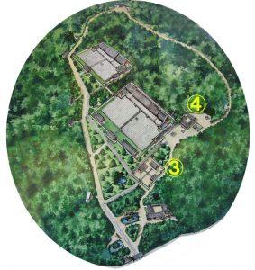 3番・4番 斎宮(ジェグン)一帯と典祀庁(チョンサチョ)一帯の場所