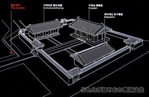 斎宮(ジェグン)一帯の地図