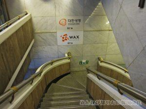 63ワックスミュージアムへ続く階段1