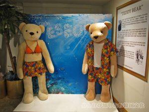 水着を着たテディベアのカップル