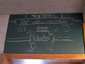 かわいい絵が描かれた黒板