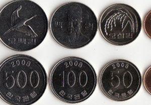 韓国の小銭